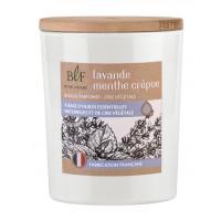 Bougie parfumée en Cire végétale Lavande Menthe crépue