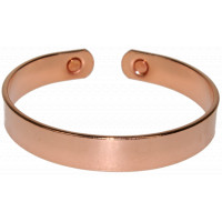 Bracelet cuivre avec Aimants Forme jonc plat Grand modèle