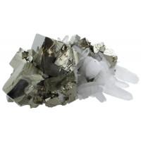 Amas Pyrite et Cristaux - 1,5 à 1,7 kg