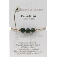 Bracelet de la chance - Perles de Lave
