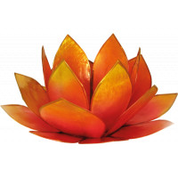 Photophore lotus - coloris rose et jaune