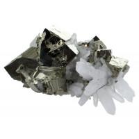 Amas Pyrite et Cristaux - 1,25 à 1,5 kg