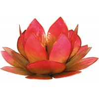 Photophore lotus - coloris vert et rose