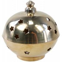 Brûle-encens laiton - forme boule - grand