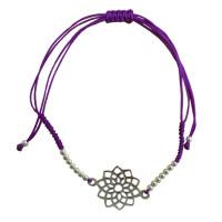 Bracelet cordon ajustable en coton - Chakra Sahasrara