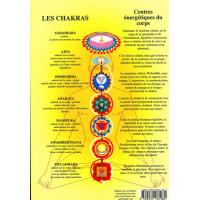 Planche des Chakras fond jaune - 17x24 cm
