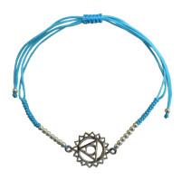 Bracelet cordon ajustable en coton - Chakra Vishuddha