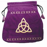 Bourse velours violette Wicca
