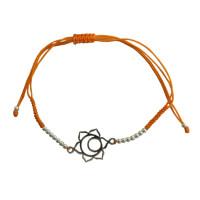 Bracelet cordon ajustable en coton - Chakra Svadhistana