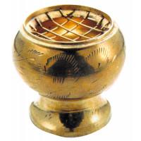 Brûle-encens laiton - coloris doré - diam. 5,5 cm