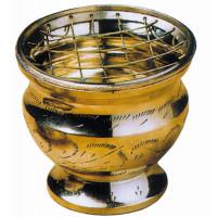 Brûle-encens laiton - coloris doré - diam. 7 cm