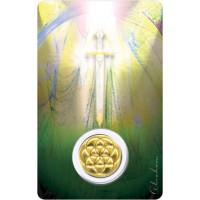 Médaille sur carte Archange Mikaël