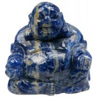Bouddha Rieur Assis 4 cm - Sodalite