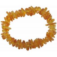 Bracelet Ambre Jaune miel Chips