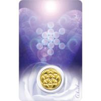 Médaille sur carte Archange Haniel