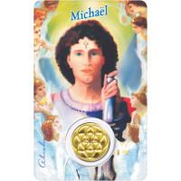Médaille sur carte Michaël