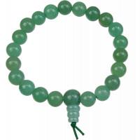 Bracelet mala tibétain - Aventurine verte