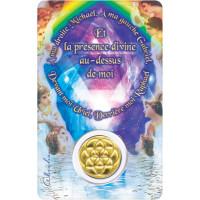 Médaille sur carte Prière du Soir