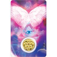 Médaille sur carte Archange Gabriel