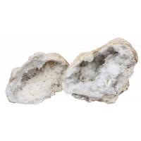 Géode de Quartz Blanc - Pièce environ 13 cm