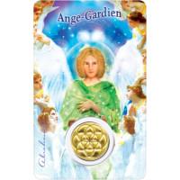 Médaille sur carte Ange Gardien