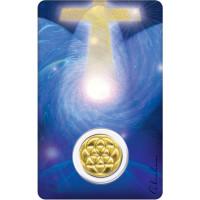 Médaille sur carte Archange Melchisédech
