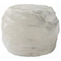 Bougeoir cristal de sel blanc - roc 400 gr