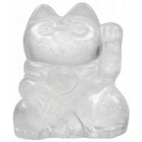 Chat Porte-Bonheur en Cristal de roche