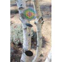 Carillon à vent Attrape-soleil Fleur de vie 46 cm