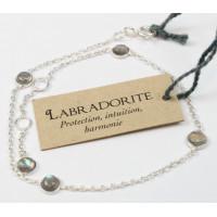 Bracelet pierres Labradorite 4 mm - Argent 925