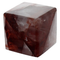 Cube Hématoïde Rouge - 3,5 cm