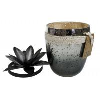 Bougie verre simple coloris noir - Senteur Relaxation
