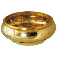 Brûle-encens laiton - coloris doré - diam. 8 cm