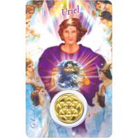 Médaille sur carte Lumière de Dieu