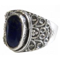 Bague Lapis Lazuli Argent 925 Geshna T53
