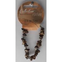 Bracelet pierres baroques et éléments métalliques - Œil de tigre