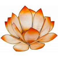 Photophore lotus - coloris mandarine