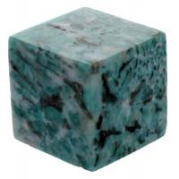 Cube Amazonite Graphique - 3,5 cm