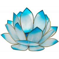 Photophore lotus - coloris turquoise