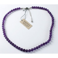 Collier Améthyste Perles rondes 6 mm